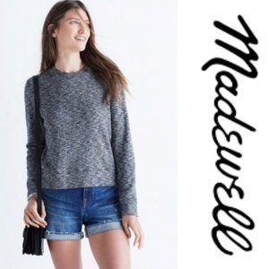 Madewell Marled Mockneck Sweater in Gray   A3-11
